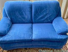 Parduodama svetainės sofa su sofute